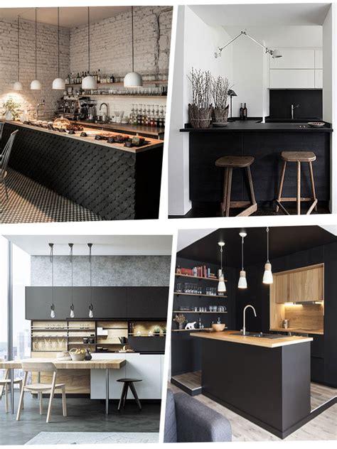 ika cuisine cuisine noir bois nouvelle cuisine bois et noir so chic