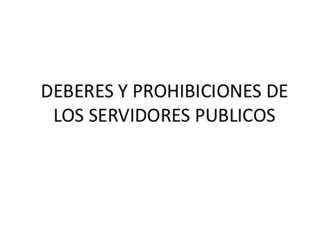 derechos y obligaciones de los servidores publicos