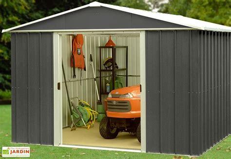 abri de jardin acier galvanis 233 anthracite 396 x 303 cm 12 m 178 yardmaster