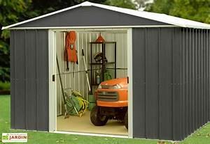 Abri De Jardin Acier : abri de jardin acier galvanis anthracite 217 x 202 cm 4 ~ Dailycaller-alerts.com Idées de Décoration