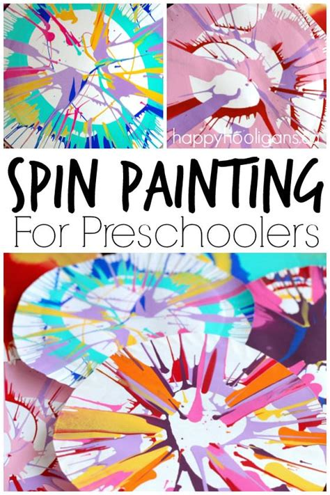 spin painting for preschoolers happy hooligans 151 | Spin Painting for Preschoolers an easy stunning art process for kids using a simple kitchen gadget Happy Hooligans