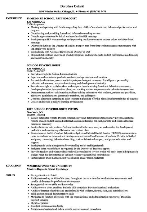 Psychology Resume Template by Resume For Psychology Bijeefopijburg Nl