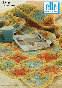 Elle Dk Granny Square Blanket Crochet Pattern 6806