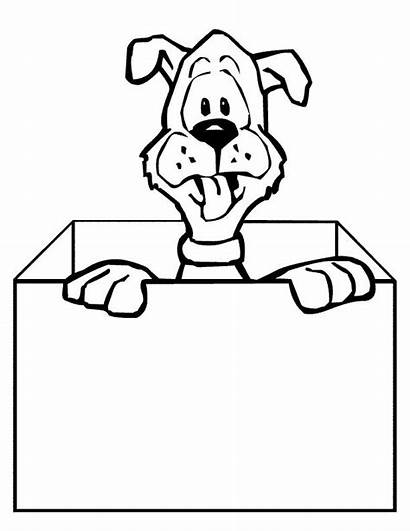 Box Coloring Pages Colouring Dog Creative Printable