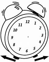 Clipart Clock Outline Blank Alarm Hands Coloring Clip Face Worksheets Printable Clocks Without Para Template Fill Paper Cliparts Actividades Analog sketch template