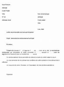 Remboursement Assurance Emprunteur Lettre Type : modele lettre resiliation pret immobilier document online ~ Gottalentnigeria.com Avis de Voitures