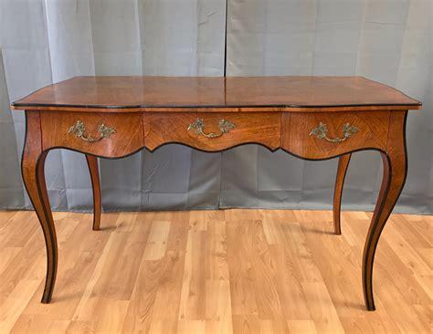 bureau sold 20th century louis xv style burl wood bureau plat