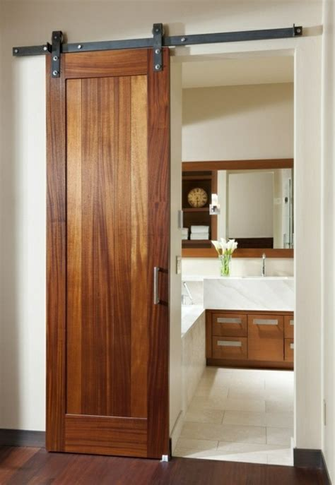 sliding doors made of wood a great option for the living