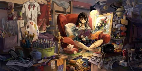 Anime Room Wallpaper - anime room original characters anime wallpapers