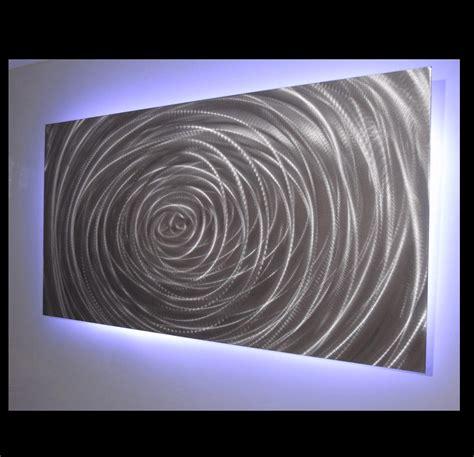 vortex single panel led light metalistik metal wall art