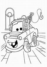 Coloring Cars Pages Print Colouring Printable Disney Movie Mater Pixar Truck Characters sketch template