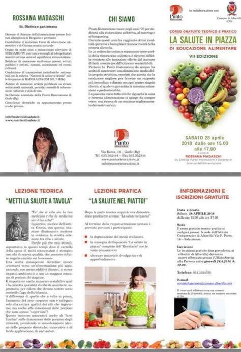 corsi di educazione alimentare albavilla il 28 aprile un corso gratuito di educazione