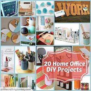 20 home office diy projects a little craft in your day for Office diy projects