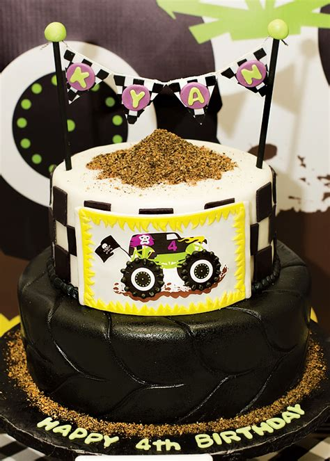 epic grave digger themed monster jam party hostess