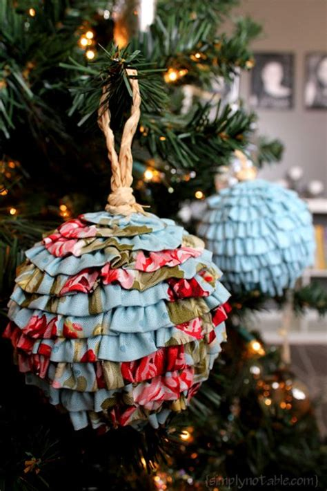 farbic christmas ornament tutorials