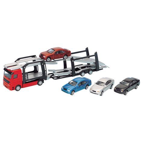 siege auto bébé camion de transport de voitures motor co king jouet