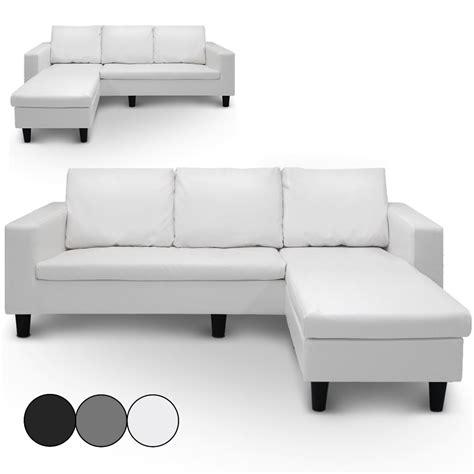 canapé simili cuir blanc petit canapé d 39 angle simili cuir