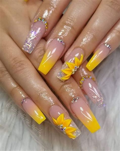 hot fashion coffin nail trend ideas nail art