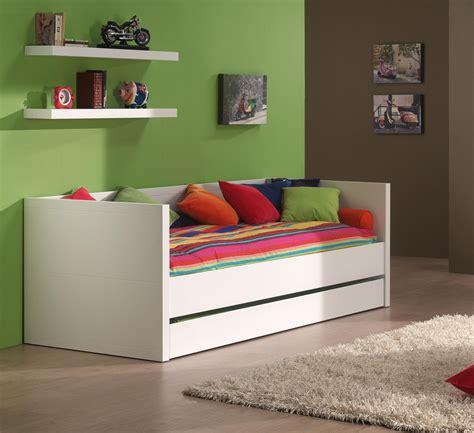 canap lit pour chambre d ado lit banquette contemporain coloris blanc elara lit