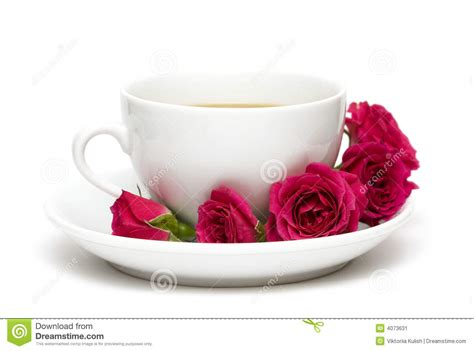 Cup Of Coffee With Red Roses Stock Image Coffee Break Valores Grinders Asda Que Lleva Office Jerk With Dani Instagram Premium Grinder High Quality Delonghi