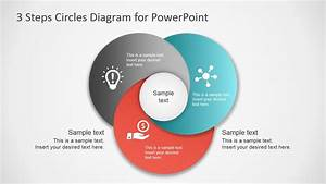 3 Step Circles Diagram For Powerpoint