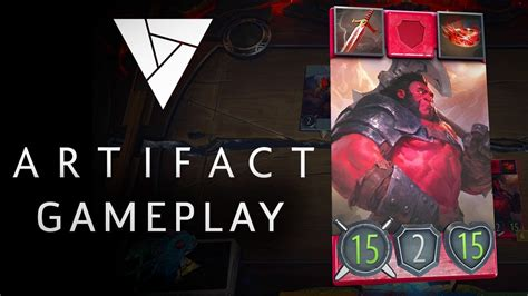 artifact 7 minutes of exclusive gameplay valve s new card youtube