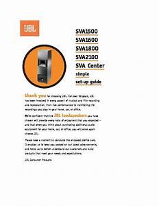 Jbl Sva 1800 User Guide    Operation Manual  U2014 View Online
