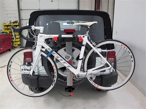 tire bike rack 2015 jeep wrangler yakima sparetime 2 bike carrier spare