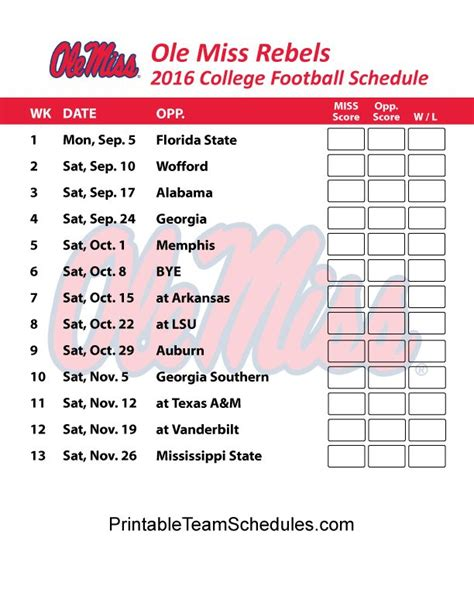 1000+ Images About Sec Football College Team Schedules On Pinterest