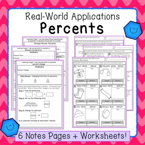 percent applications interactive notes and practice