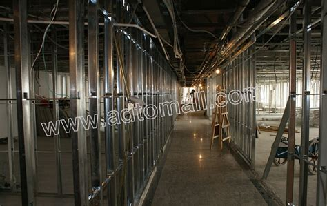 drywall partition metal studs wall angle  standard sizes