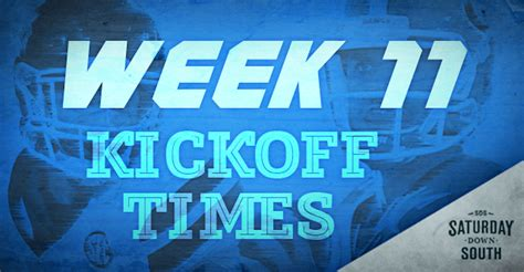 SEC announces updated kickoff times, TV programming for ...