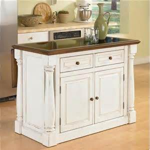 home styles monarch kitchen island with adjustable granite