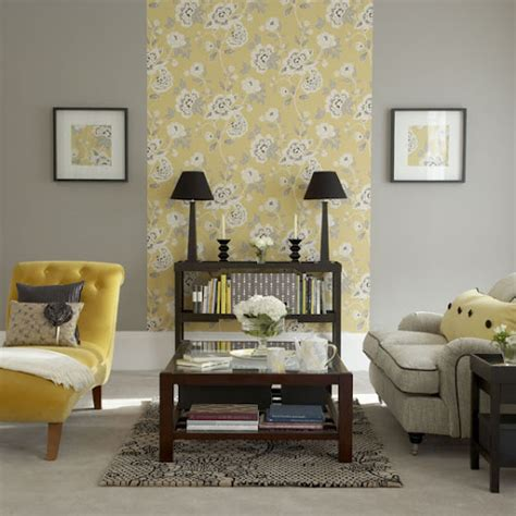 Yellow And Gray Wall Decor by Home Quotes Summer Special Living Room Ideas In