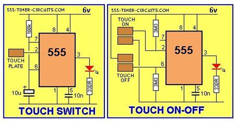 Touch Switch And Touch Onoff Circuit Basiccircuit