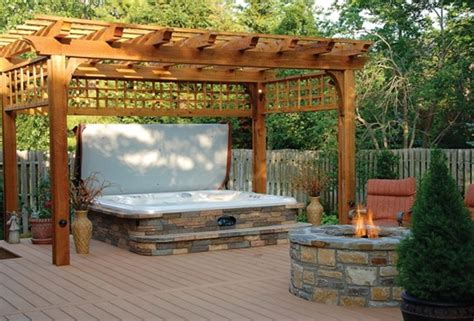 decks with tubs and pits decks with hot tubs and fire pits home design ideas