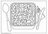 Cheese Macaroni Coloring Drawing Mac Printable Swiss sketch template
