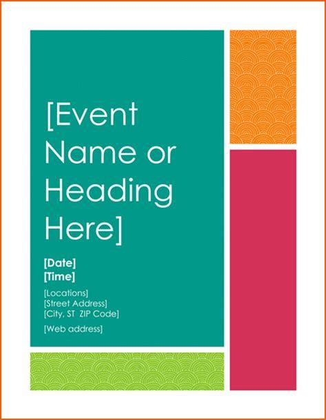 Microsoft Word Flyer Templates by 6 Microsoft Word Flyer Templates Bookletemplate Org