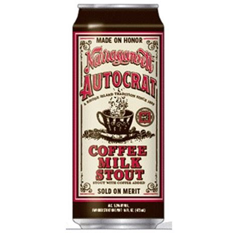 I think the beehive should serve coffee milk. Narragansett Autocrat Coffee Milk Stout cans arrive in two weeks | BeerPulse