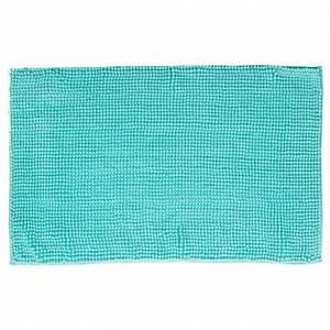 tapis de salle de bain quotchenillequot 80x50cm vert d39eau With tapis vert d eau