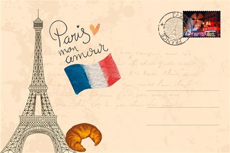 Carte Postale Gratuite illustration gratuite carte postale tour eiffel