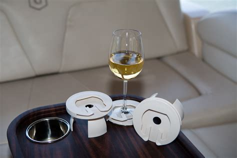 Boat Wine Glasses by Boat Wine Glass Holders Turn Existing Cup Inserts Into