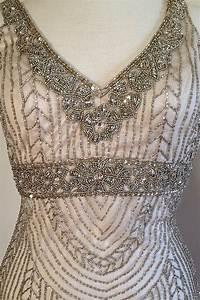 sue wong art deco beaded embellished bridal wedding With beaded art deco wedding dress