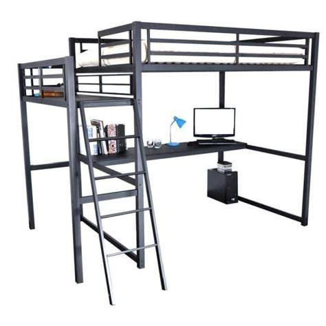 bureau deux places lit mezzanine 2 places idéale dans une chambre