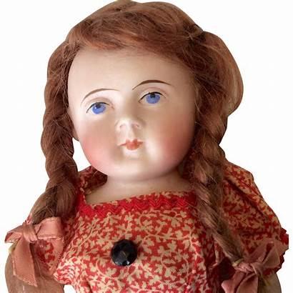 Doll German Face Round Bisque Porcelain Stiff