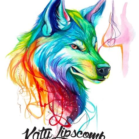 Anime Rainbow Wolf Wallpaper by Prints 183 Katy Lipscomb 183 Store Powered By Storenvy