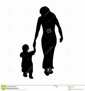 A mother with her child stock vector. Illustration of nice ...