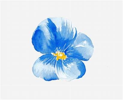 Watercolor Flower Flowers Single Painted Hand Clipart