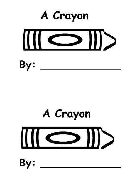 Crayon Template Crayons Templates And Book On