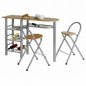 Küchentisch Mit 2 Stühlen : bartisch tresentisch k chentisch mit 2 barhocker in ~ Michelbontemps.com Haus und Dekorationen